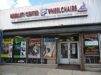 Gem Wheelchair Scooter Service storefront in Queens, NY.